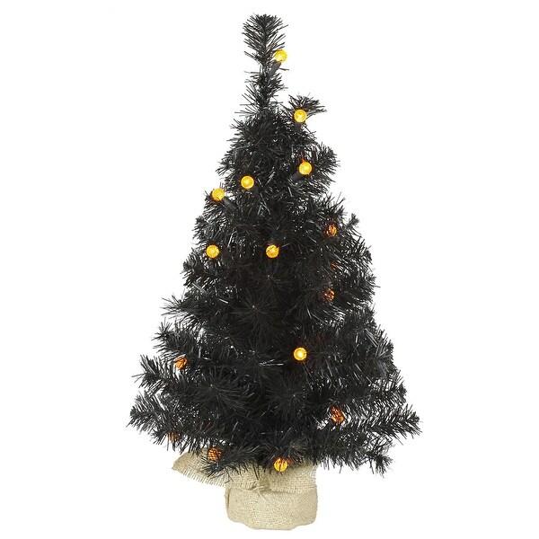 "24"" Black Pine Tree G12 25LED Orange"