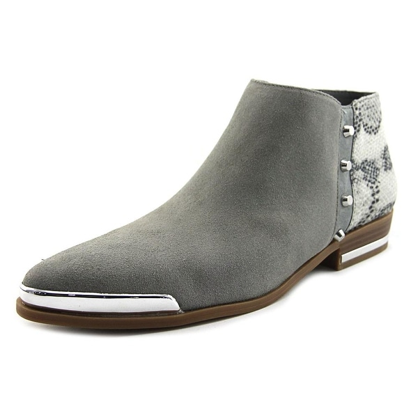 Fergie Indigo Women Pointed Toe Synthetic Gray Ankle Boot