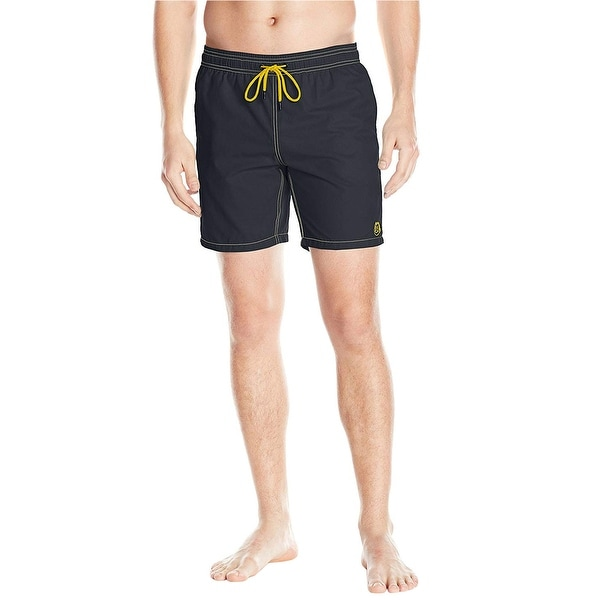 bfffe3ae92 Shop Mr. Swim Mens Board Shorts Swim Trunks Large L Swimsuit Black - Free  Shipping On Orders Over $45 - Overstock - 26282825
