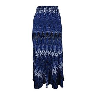NY Collection Women's Elastic Waist Jersey Skirt