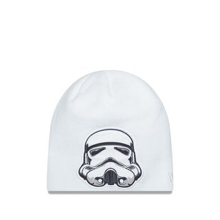 New Era Cap Men's Stormtroopers Oversizer Knit Beanie, White, One Size