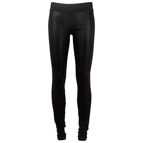 Goldsign Jem Women's Black Coated Leggings, Black, 30
