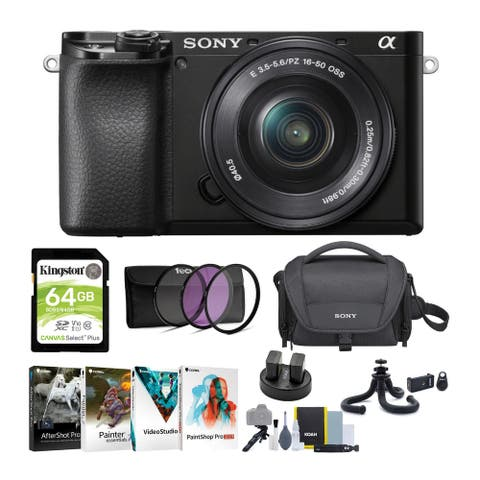 Sony Alpha a6100 APS-C Mirrorless Camera with 16-50mm Lens Bundle