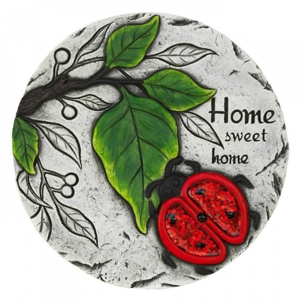 Set of 2 Home Sweet Home Lady Bug Stepping Stones