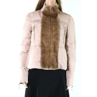 Valentino NEW Pink Womens Size 8 Front Zip Mock Neck Puffer Jacket