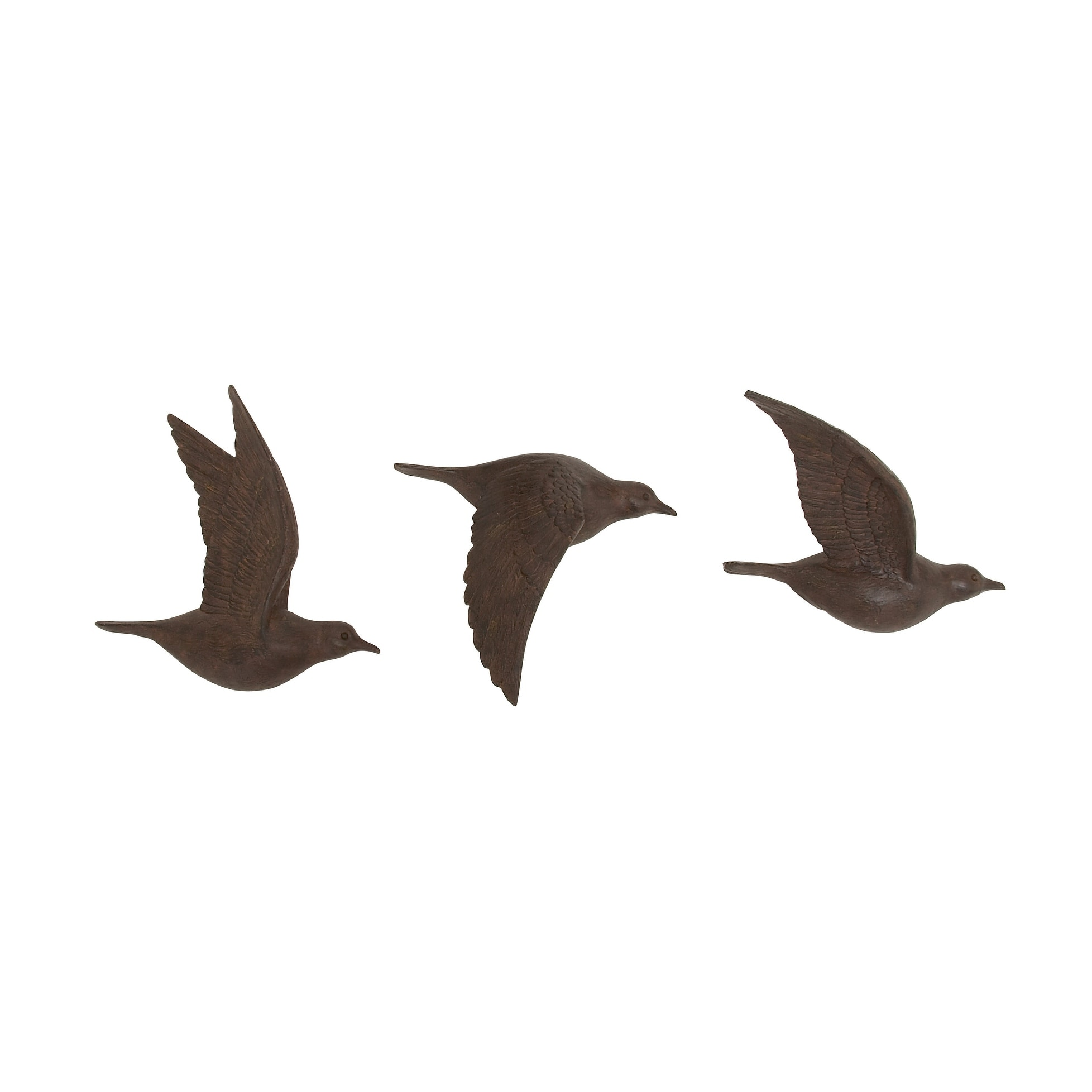 Shop For Copper Grove Sharbot 3 Piece Brown Polystone Bird Wall Decor Set Get Free Delivery On Everything At Overstock Your Online Art Gallery Shop Get 5 In Rewards With Club O 21147979