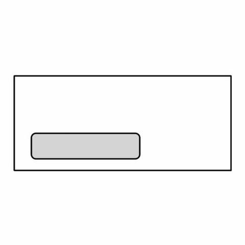 """#9 Poly Window Business Envelopes, 3-7/8"""" x 8-7/8"""", 24#, Lookins, White, Diagonal Seam (Box of 500) - 3-7/8 x 8-7/8 in"""