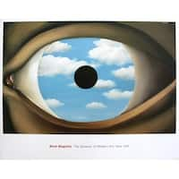 ''The False Mirror'' by Rene Magritte Museum Art Print (26 x 33 in.)