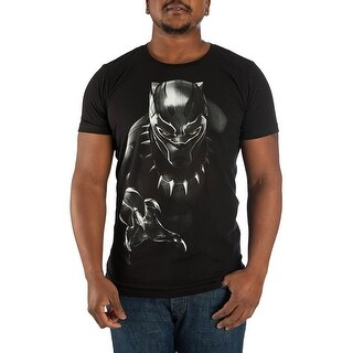 Marvel Black Panther Character Men's Black T-shirt