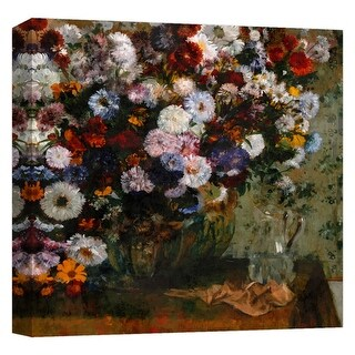 """PTM Images 9-124775  PTM Canvas Collection 12"""" x 12"""" - """"Abstract Bouquet II"""" Giclee Flowers Art Print on Canvas"""