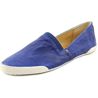 Frye Melanie Slip On Women Round Toe Leather Blue Loafer
