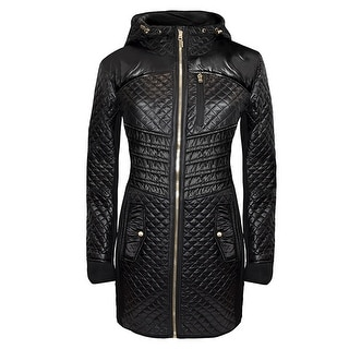 Michael Michael Kors Black Mixed Media Quilted