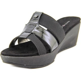 Bandolino Doveva Women Open Toe Canvas Slides Sandal