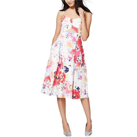 Rachel Roy Womens Cutout A-line Dress, Pink, 4