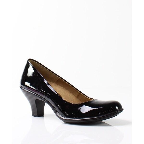Softspots NEW Black Women's Shoes Size 7N Salude Faux Patent Pump