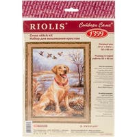 "Labrador Counted Cross Stitch Kit-11.75""X15.75"" 14 Count"