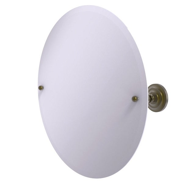 Allied Brass Frameless Round Tilt Mirror with Beveled Edge