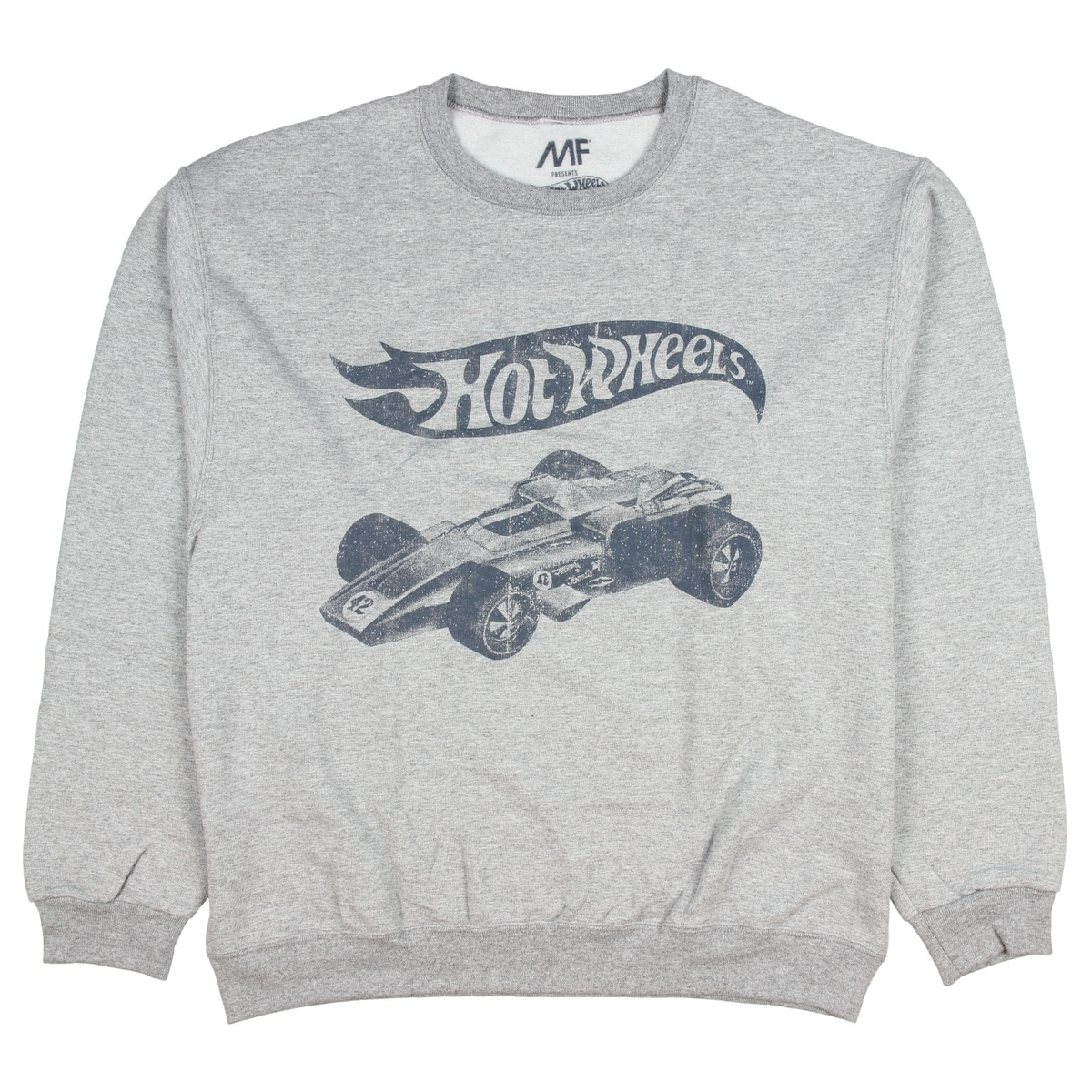 Mattel Hot Wheels Men's Distressed Indycar Pullover Sweatshirt