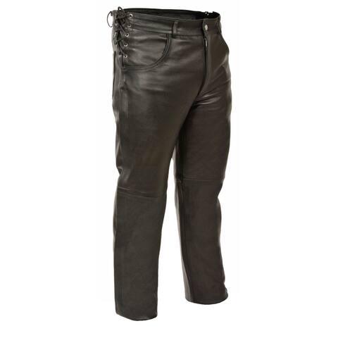 Mens Deep Pocket Over Pants - Side Lace Fit Adjustment