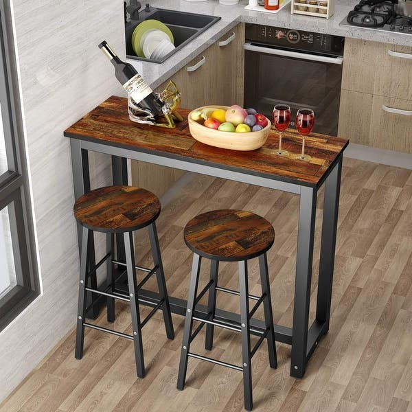 Shop 3-Piece Pub Table Set, Counter Height Dining Table Set ...