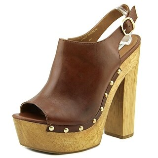 Steve Madden Slngshut   Open Toe Leather  Platform Heel