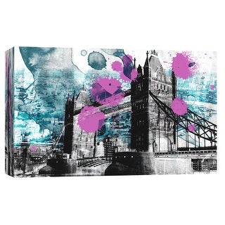 """PTM Images 9-103704  PTM Canvas Collection 8"""" x 10"""" - """"Tower Bridge"""" Giclee London Art Print on Canvas"""
