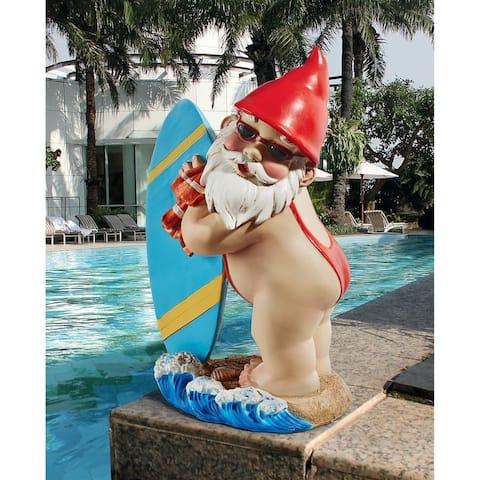 Design Toscano The Shredder Surfer Dude Gnome Statue