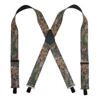 CTM® Men's Big & Tall Elastic Clip End Realtree Camouflage Suspenders