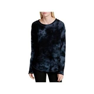 Calvin Klein Performance Womens Pullover Top Tie Dye Drop Shoulder