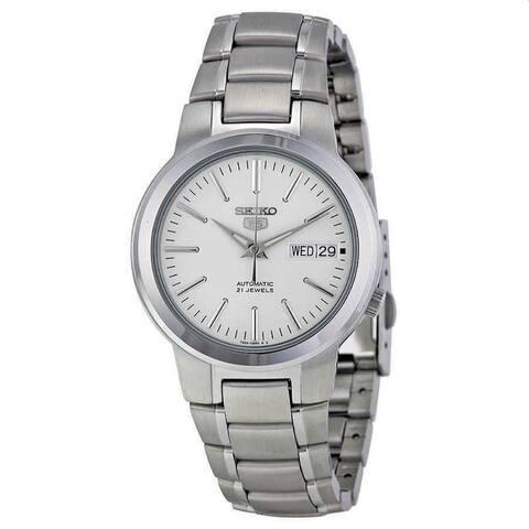 Seiko Men's SNKA01 'Seiko 5' Stainless Steel Watch - White