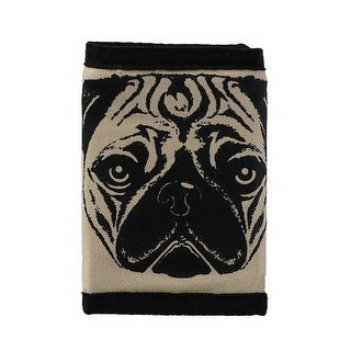 CTM® Kid's Pug Dog Face Print Trifold Wallet with Hook and Loop Closure