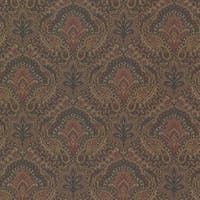 Brewster 2604-21217 Cypress Ink Paisley Damask Wallpaper