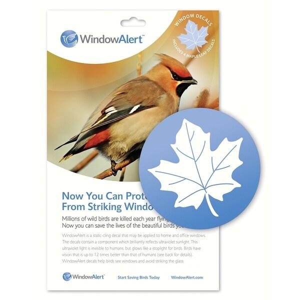 "4pc Clear Maple Leaf Window Alert Decals 4.25"" - N/A"