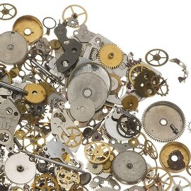 Watch Part Assortment, Gear Embellishments Cogs and More, 50 Gram Package