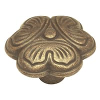 "Hickory Hardware PA0911 Palmetto 1-1/4"" Diameter Mushroom Cabinet Knob - windover antique"