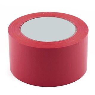 Shipping PVC Box Sealing Adhesive Tape Brick Red 2.4 x 98.4 Yards(295.3 Ft)