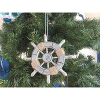 6 in. Rustic Decorative Ship Wheel Christmas Tree Ornament