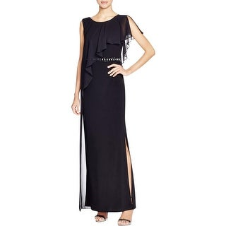 Laundry by Shelli Segal Womens Formal Dress Beaded Slit