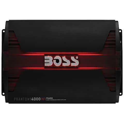 Boss audio pd4000 boss phantom 4000 watts class d monoblock power amplifier remote subwoofer level control