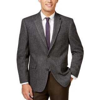 Tommy Hilfiger Willow Charcoal Herringbone Sportcoat Blazer 40 Short 40S