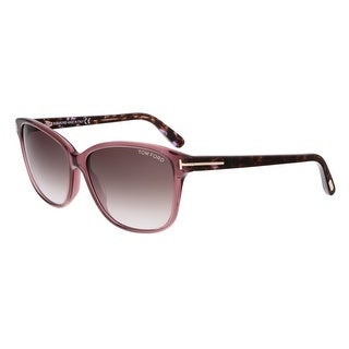 Tom Ford FT0432 71T DANA Purple Rectangular Sunglasses