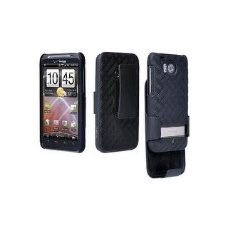 OEM Verizon HTC Thunderbolt ADR6400 Belt Clip Shell Holster Combo (Black) (Bulk