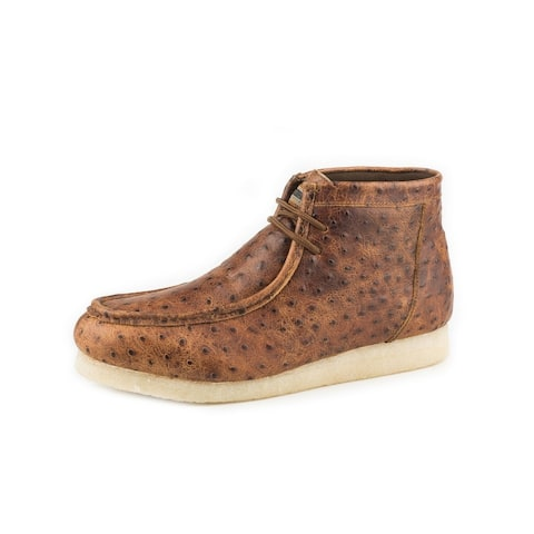 Roper Casual Shoes Mens Gum Sticker Ostrich Tan