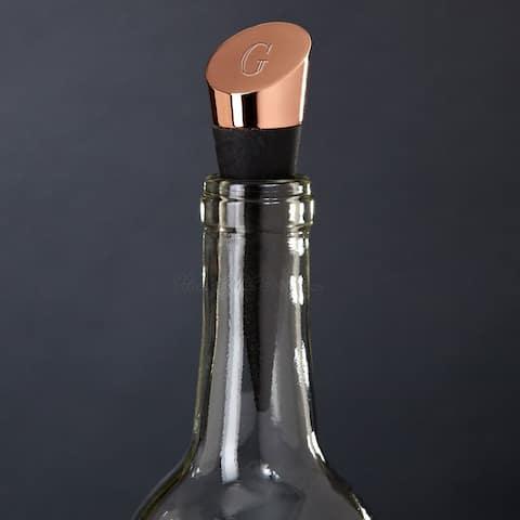 Highborn Personalized Wine Bottle Stopper, Copper