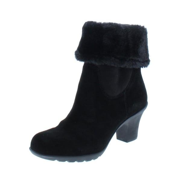 5e788e45310 Shop Anne Klein Sport Womens Heward Ankle Boots Suede Cuffed - Free ...