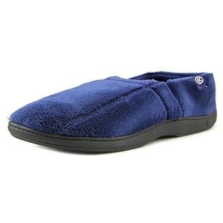 Isotoner Classics Memory Foam Plus Men Round Toe Synthetic Blue Slipper