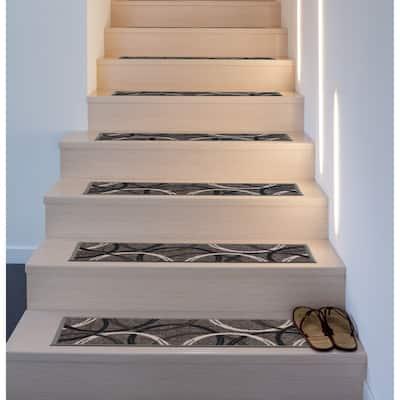 Moden Wavy Circles Non-Slip Stair Treads