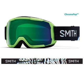 Smith Optics 2017/18 Youth Grom CP Goggle - Reactor Tracking Frame, ChromaPop Everyday Green Mirror Lens