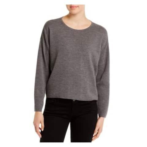 EILEEN FISHER Womens Gray Long Sleeve Jewel Neck Sweater Size S