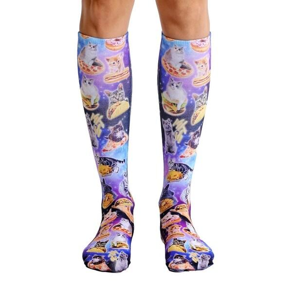 Living Royal Photo Print Knee High Socks: Cat Cravings - Multi